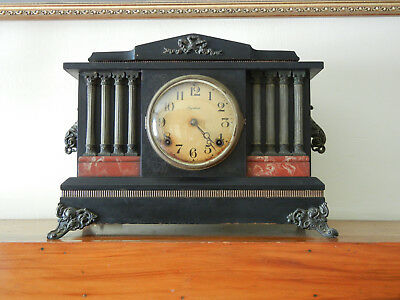 Vintage Ingraham Mantel Clock, Made In Bristol, Ct, Works Great!