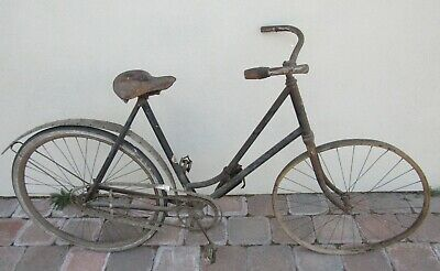ANTIQUE 1902 RARE POPE HARTFORD Model 32 WOOD RIM FENDERS BICYCLE +Holster &Seat