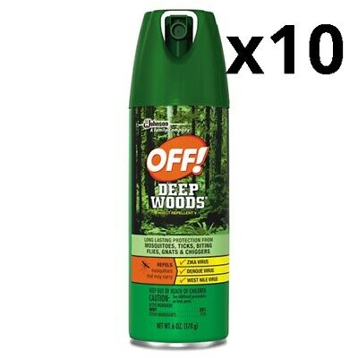 Deep Woods Insect Repellent, 6oz Aerosol, Pack of 10