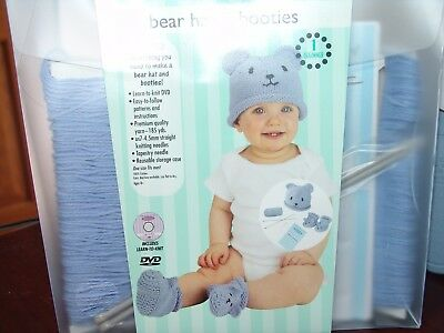 Knit This Bear Hat & Booties Beginner NEW