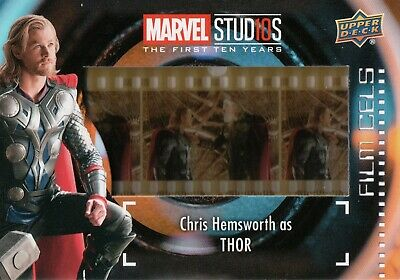 Marvel The First Ten (10) Years, Chris Hemsworth 'Thor' Film Cell Card FC-3