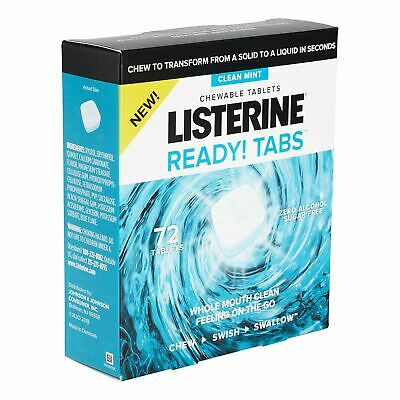 Listerine Ready Tabs Mint Chewable Tablets 72 ct.
