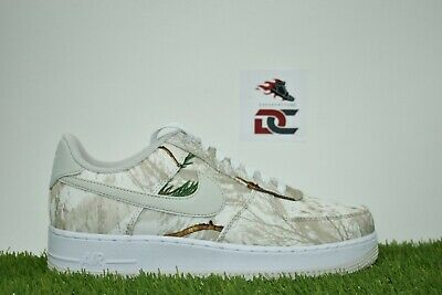 New Men's Nike Air Force 1 '07 LV8  3 Size 8 REALTREE Camo Pack White AO2441-100