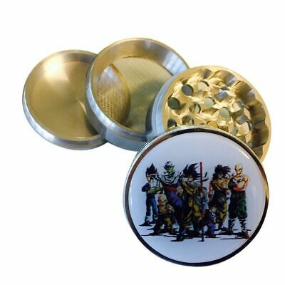 "Dragon ball Z Herb Spice Grinder Crusher 2.25"" 56MM 4 Piece Kai Super Tobacco"