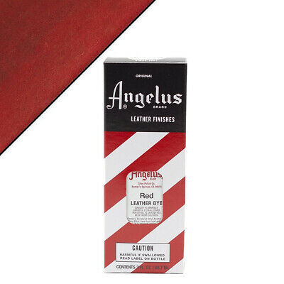 C--064 Angelus Permanent Leather Dye With Applicator 3Oz Red