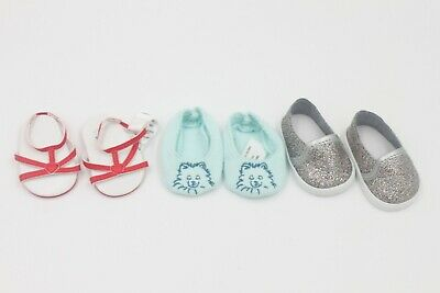 American Girl 3 pairs of shoes kid 18'' doll accessories #2