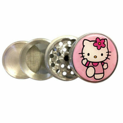 "Hello Kitty Herb Metal Grinder Spice Tobacco Spice 2.5""wide 56mm 4 Piece GH2"