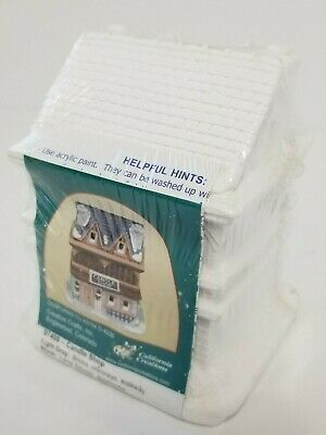 """California Creations Creative Crafts New Sealed Plaster """"Candle Shop"""" 97109"""