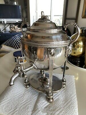 Antique English Silver Plate Egyptian Revival Samovar
