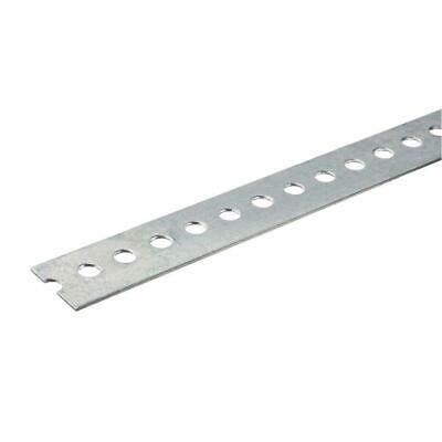 1-3/8 in. x 48 in. Zinc-Plated Punched Steel Flat Bar with 1/16 in. Thick.