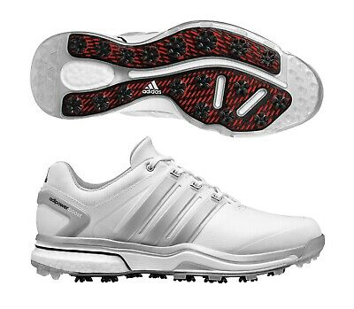 New Men'sAdidas Adipower Boost White/Grey Golf Shoes Q4454032- Us 11Wide
