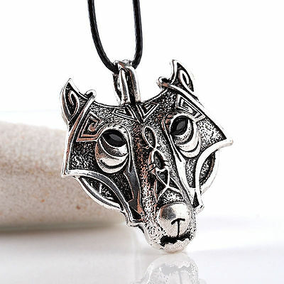 Trendy Woman Man Personality Nordic Wolf Head Alloy Necklace Charm Chain Jewelry