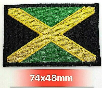 NATIONAL COUNTRY EMBROIDERED FLAG SEW ON/ IRON ON PATCH Jamaica