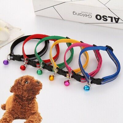Pet Dog Cat Collar With Ringing Bell Durable Kitten Puppy Neck Strap Pet Supply