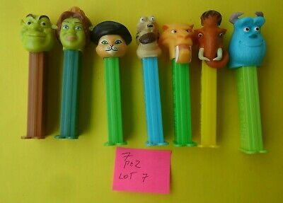 7 Mixed Pez Dispensers In Good Condition Dates Unknown Tracking Post Lot 7