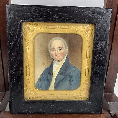 Fine Quality Antique Regency Portrait Miniature Of A Well Dressed Gentleman