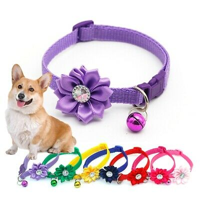 Pet Dog Cat Collar Puppy Kitten Neck Strap With Ringing Bell Adjustable Buckle