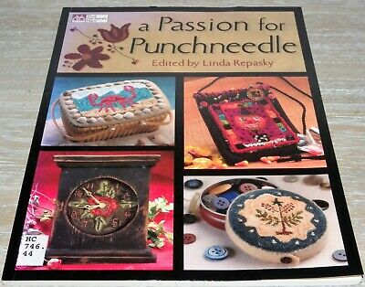 A Passion For Punchneedle Book Primitive Rustic Folk Art Punch Needle Patterns