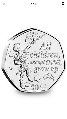 PETER PAN 50p COIN PETER NEW RELEASE 2019 UNCIRCULATED