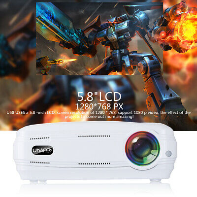 10000 Lumens LED HD 1080P Projector & Control Multimedia Home Theater Cinema