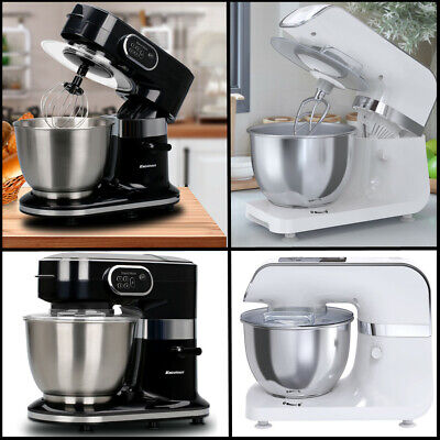 Stand Mixer Electric Food Blender 6 Speed Stainless Steel Mixing Bowl Dough Hook