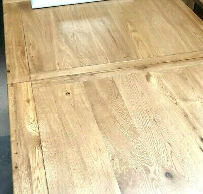 HUGE VERY LARGE, SOLID OAK, EXTENDING - 6 / 10 STR DINING TABLE - 6cm THICK TOP