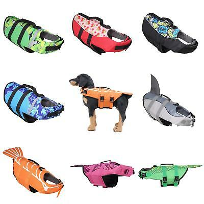 Dog Buoyancy Aid Pet Jacket Swimming Boating Adjustable Safety Vest Suit Surpris