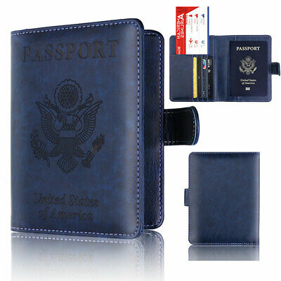 Passport Card Ticket Holder Travel Faux Leather Case Cover Securely Wallet Healt