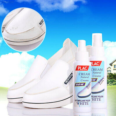 Shoe Polish White Shoe Cleaner Professional 100ml 15*4CM Brush Casual Shoes B8D2