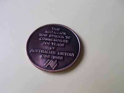 Australian 200 Years 1788-1988 Bicentary Commemorative Medal