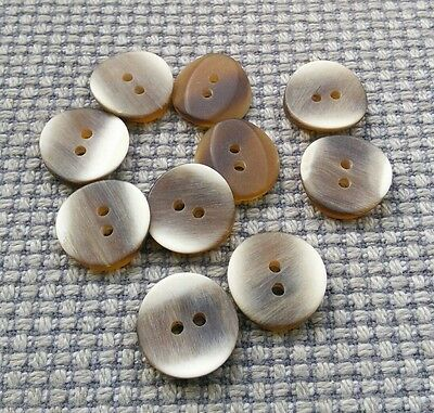 10 x Cream /& Brown Shades Marl Marble round plastic Buttons 17mm 2 hole JBBM17