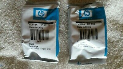 Genuine HP 901XL Black & 901 Tri-Color Combo Pack Ink Cartridges Expired Sealed