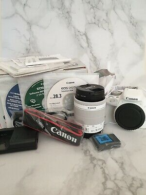 Canon White EOS 100D Digital DSLR Camera 18-55mm EFS Lens