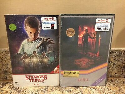 Netflix Stranger Things Season 1 & 2 Target Blu-Ray Ultra 4K Uhd Vhs Packaging