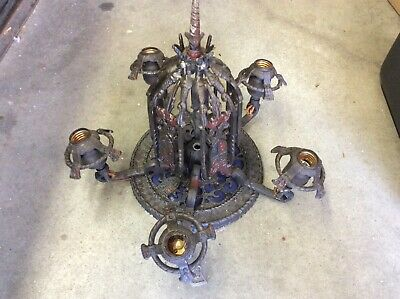 Antique Arts And Crafts Mission Ceiling Light Fixture Chandelier