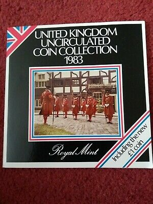 Royal Mint 1983 United Kingdom Uncirculated Coin Collection Includes New £1 Coin
