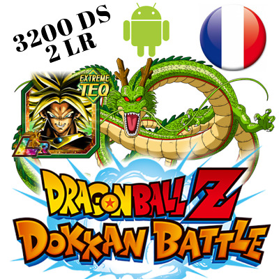 NEW !💥Dokkan Battle GLOBAL Android💥 New Broly LR + 1 LR + 2400DS Dragon Ball Z