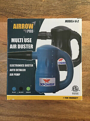 XPOWER A-2 Airrow Pro Multi-Use Electric Computer Duster Dryer Blower Blue