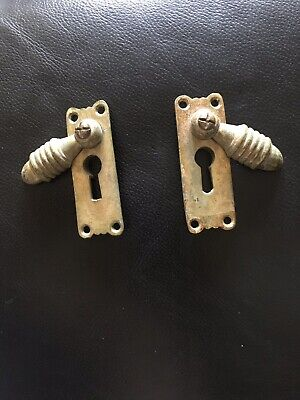 Antique escutcheon plates. Solid Brass.