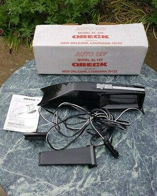 ORECK XL Car Vacuum / Vac 12V with Attachments / Instructions in Original Box