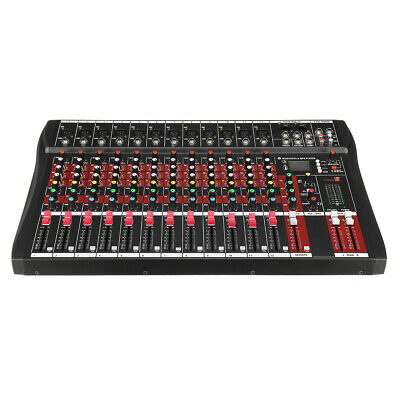12 Channel bluetooth Live Studio Audio Mixer Mixing Console with USB XLR Input 4