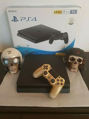 Playstation 4 ps4 SLIM 2,5 TB+54 GIOCHI+RDR 2+JOYPAD V2+12 MESI PLUS