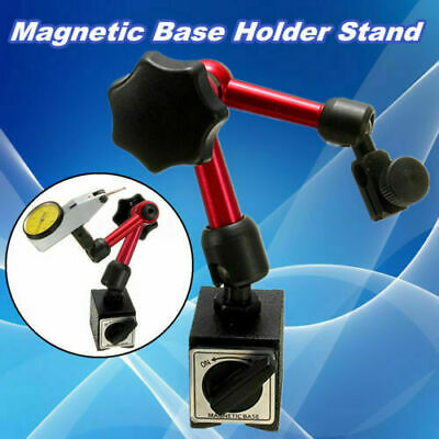 Flexible Magnetic Base Holder Precision Dial Test Indicator Gauge Stand + Scale