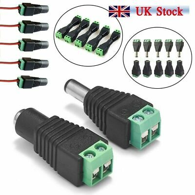 10//20x 12V Male Female DC Power Socket Jack Plug Wire Connector Cable CCTV UK