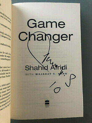 Shahid Afridi Pakistan Cricketer AUTOGRAPHED book Game Changer-See signing proof