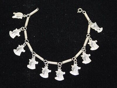 Egyptian 925 solid Stamped silver Revival Pharaoh Head Link Bracelet 20.77 grams