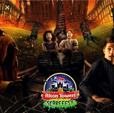 Alton Towers x 2 tickets Friday 1st November 2019. Scarefest?