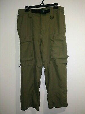 Boy Scouts Uniform Green Cargo Convertible Pants w Belt Size Youth Medium