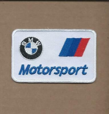 New 1 7/8 X 3 Inch Bmw Motorsport Iron On Patch Free Shipping