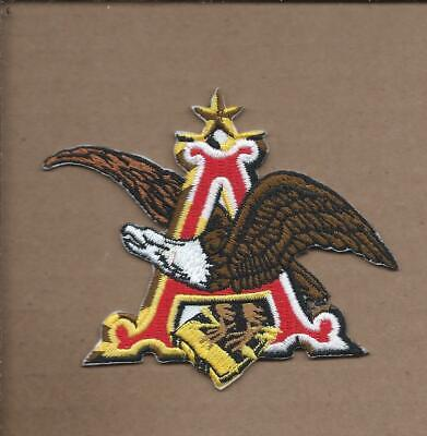 New 3 1/8 X 3 3/4 Inch Anheuser Busch Iron On Patch Free Shipping